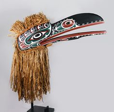Raven Headdress by Tom D. Hunt, Kwakwaka'wakw artist (W151102)