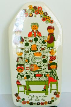 Figgjo Flint Norway Folklore Wall Plaque Cheese Board Large on Etsy by EdibleComplex. $45.00, via Etsy.