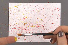 CardMaker Kit-of-the-Month Club | Watch a video! To learn Speckling in this Speckling Watercolor Card Tutorial!