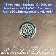 #snowflake #essentialoil #diffuser #necklace #giveaway UsingEOsSafely.com/snowflakeGA