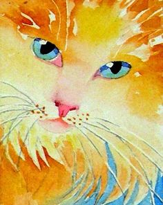 Painting Watercolor Print Cat Art Persian Cat art by LaBerge http://sulia.com/my_thoughts/39c75bb9-b430-464d-b2ad-0229ea05959a/?