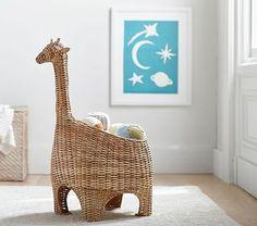 Giraffe Shaped Wicker Basket #pbkids $79 on sale http://www.potterybarnkids.com/products/giraffe-shaped-wicker-basket/?pkey=e%7Cwicker%2Bgiraffe%7C1%7Cbest%7C0%7C1%7C24%7C%7C1&cm_src=PRODUCTSEARCH