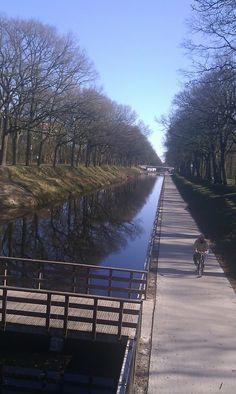 Fietspad Oranjekanaal, Drenthe. The Netherlands