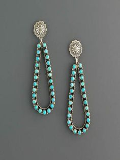 nice Turquoise Teardrop Earrings by post_link