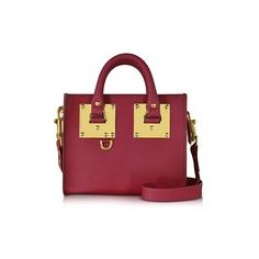 Sophie Hulme Handbags Cherry Red Leather Albion Box Tote Bag ($635) ❤ liked on Polyvore featuring bags, handbags, tote bags, red, leather tote purse, zip top leather tote, red leather handbags, leather purses and handbags totes