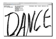 Dance Website on Behance