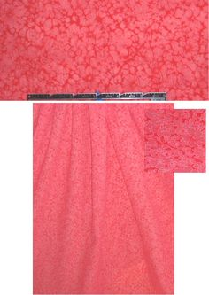 French textured burnout cotton voile dark coral  from EmmaOneSock.com