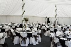 Black and White Wedding Decorations