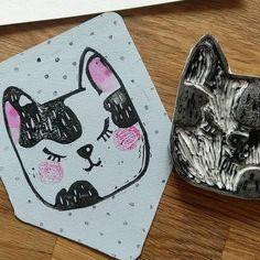 Linocat  . . . . . . . #lowcostunicorns #linoprint #linocut #catsofinstagram #catlinoprint #cutestuff #illustration #illustratorsofinstagram #romanianillustrator