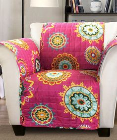 Another great find on #zulily! Fuchsia Ashbury Armchair Protector #zulilyfinds