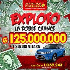 EXPLOTÓ LA DOBLE CHANCE!!!  Muchas felicidades al millonario/a ganador/a