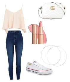 """""""Outfit #7"""" by abby020 on Polyvore featuring River Island, Topshop, Converse and Gucci"""