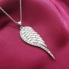 Sparkling Angel of New Beginnings #necklace is a symbol of love and accomplishment, under the guidance of your guardian angel who blesses you and protect from evil and dead. This alluring necklace, with half heart feather shaped pendant form which 19 delicate feathers sprout up, represents you, embarking on a new journey to success and happiness.  https://www.lindastars.com/collections/lindas-angels-necklaces/products/sparkling-angel-wing-necklace-1