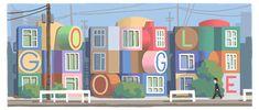 Google Doodles - 85e geboortedag van Shusaku Arakawa 85th Birthday, Happy Birthday, Luc Tuymans, Japanese American, Google Doodles, Conceptual Art, Projects, Design, Dates