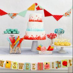 Rock candy cake & other sweets!