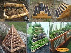 www Gartenideen Ideenladen - Jardin Vertical Fachada Raised Vegetable Gardens, Vegetable Garden Design, Raised Garden Beds, Vegetable Gardening, Organic Gardening, Flat Gardening, Gardening Tips, Raised Patio, Gardening Quotes