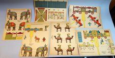 6 Uncut Sheets Tom Thumb Circus Cut-outs c1950s Rathburn & Co. | Toys & Hobbies, Vintage & Antique Toys, Paper Toys | eBay!