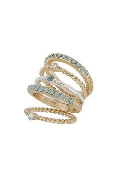 Shop the latest in women's clothing at Wallis. Ring Necklace, Earrings, Delicate Rings, Wallis, Stacking Rings, Gold Rings, Women Jewelry, Wedding Rings, Glitter