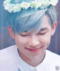 "Rap Monster Fanart ""Spring"" by bodtster ♥"