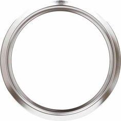 GE Stove Chrome Trim Ring, 8 inch, Chrome, Silver