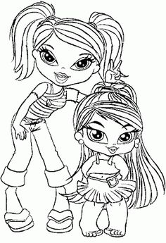 monster high bratz coloring pages-#6