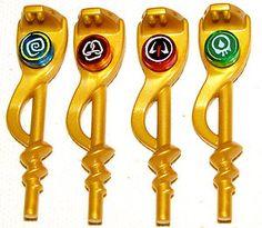 the gold ninja | LEGO-4-NEW-NINJAGO-GOLDEN-SNAKE-STAFFS-SERPENT-GOLD-WEAPONS-NINJA ..