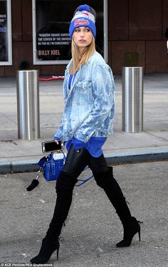 Not just any fan: Hailey Baldwin gave a lesson on how to wear your favorite team's gear in...