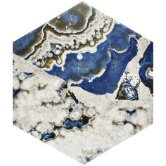SomerTile 8.625x9.875-inch Agatha Hex Porcelain Floor and Wall Tile (Case of 25)