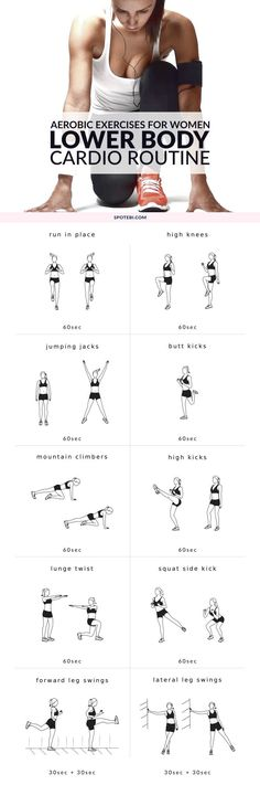 Aerobic Exercises For Women: Lower Body Cardio Routine