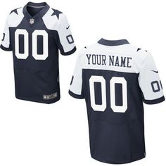 Mens Dallas Cowboys Nike Navy Blue Custom Alternate Elite Jersey