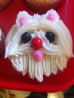 Pup Cupcake! Sixlets eyes & nose