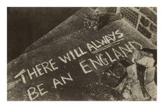 There will always be an England- Bombsite chalking 1940