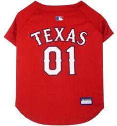 Texas Rangers Baseball Dog Jersey XS