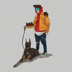 We are here . . . . . . . #illustration #digitalart #digital #art #drawing #draw #dog #walkingmydog #streetwear #streetart #sneakers… Streetwear, Digital Art, Illustrations, Drawings, Sneakers, Dogs, Artwork, Instagram, Street Outfit