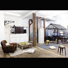 Loft et bureau sous verrière (comme une serre)