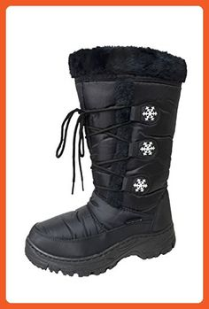 Women's Snow Winter Water Resistant Lace-up Comfort Durable Warm Boots (A-Marley-03) Black 6 M US - Boots for women (*Amazon Partner-Link)