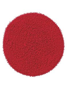 Tapis rond rouge !