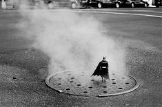 The adventures of miniature Batman captured by French photographer Rémi Noël traveling through the state of Texas.