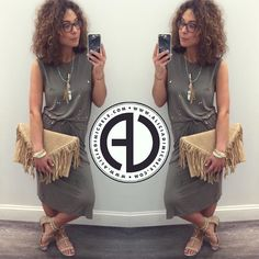 #OOTD: Luna Dress Feathered Gem Necklace Fringe Envelope Clutch SHOP: http://ift.tt/1rNgIir CODE: DENIMDAY for 20% OFF all denim  WORLDWIDE SHIPPING