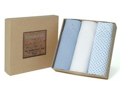 Indulge him with a gift of the best Italian cotton handkerchiefs! Handkerchiefs, Packing, Pure Products, Cotton, Gifts, Bag Packaging, Presents, Favors, Gift