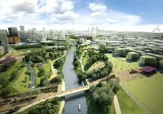 Legacy Masterplan Framework London [UK] | Structural development of London Olympic Park after the Games of 2012