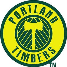 Portland Timbers Primary Logo on Chris Creamer's Sports Logos Page - SportsLogos. A virtual museum of sports logos, uniforms and historical items. North American Soccer League, Major League Soccer, Soccer Logo, Football Soccer, Soccer City, Basketball, Canada Soccer, Portland Timbers, Team Mascots