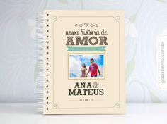 Scrapbook historia de amor com capa personalizada e folhas em branco para decorar - Presentes criativos os para namorados para todo o Brasil.