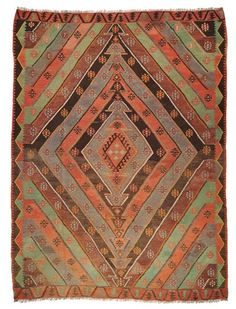 Vintage Sivas Kilim around 60 years old.