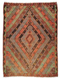 Vintage Sivas Kilim around 60 years old.