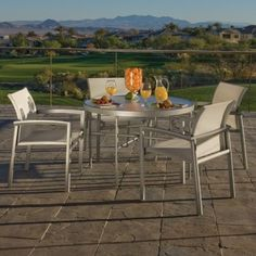 The Winston Vision Relaxed Sling Collection modern dining tables