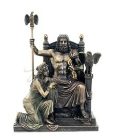 Zeus-And-Hera-At-The-Throne-Sculpture-Statue-Figurine-GIFT-BOXED