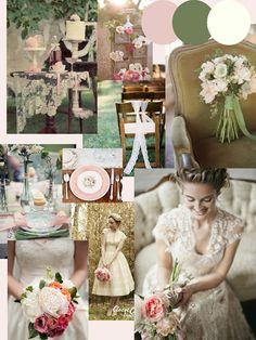 Dusky Pink & Sage Green Wedding Inspiration http://knotsandkisses.blogspot.com
