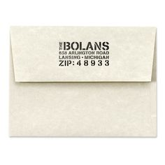 Address Stamp Personalized Rubber Stamp Stencil Type by 2impress, $19.95