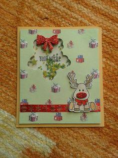 Shaker Card natalizia, ho usato i timbri e le fustelle della Coppia Creativa